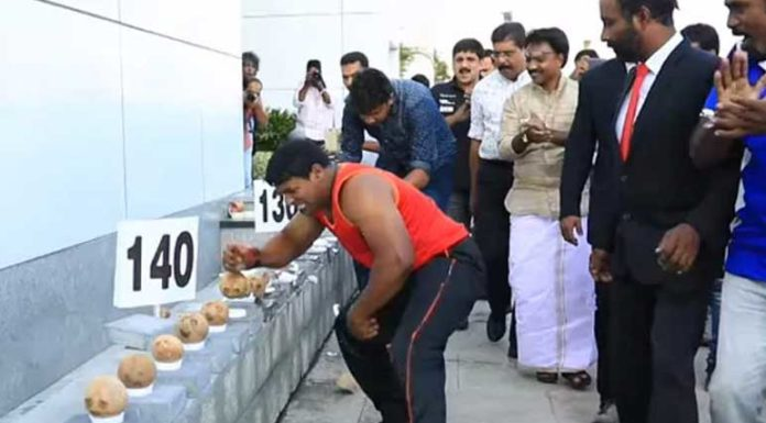 Iron Man Of India Who Broke 122 Coconuts In 60 Seconds